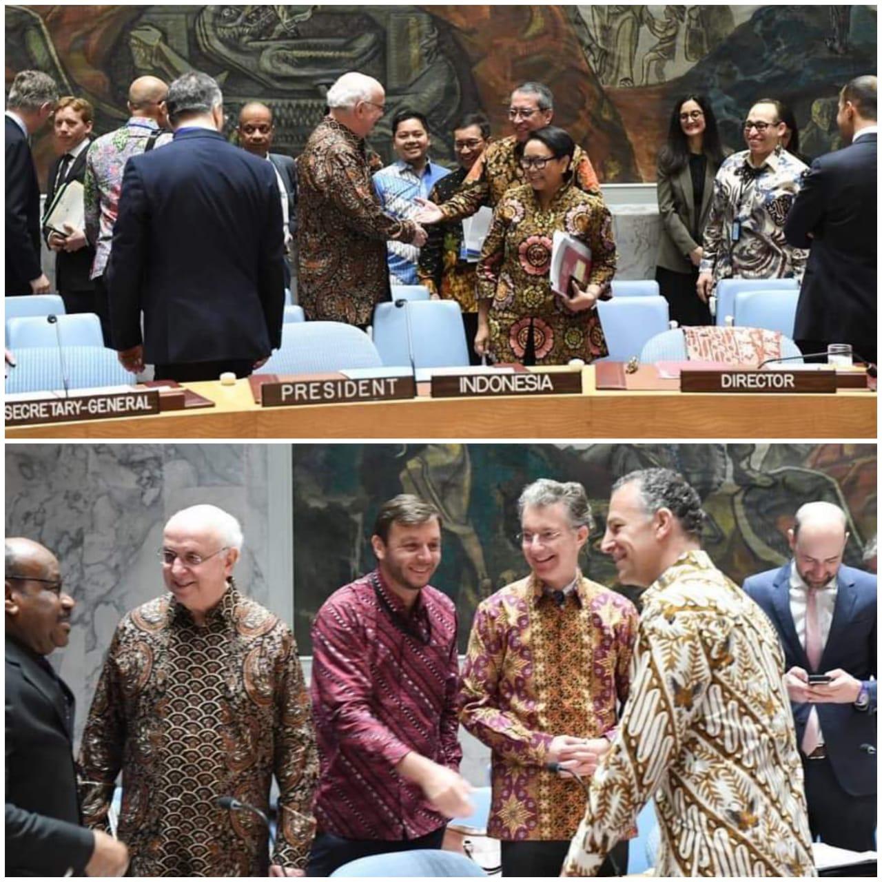 Diplomasi Batik Mewarnai Dewan Keamanan PBB – LoginNews