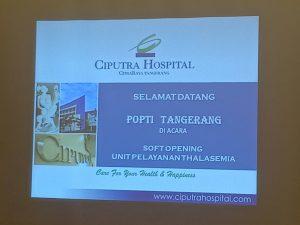 Soft Opening Unit Pelayanan Thalasemia di Ciputra Hospital Citra Raya